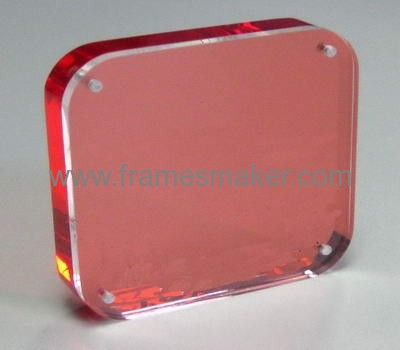 Red back with clear panel photo frames AP-029