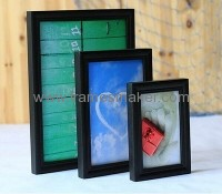 Black solid wood picture frames WP-007