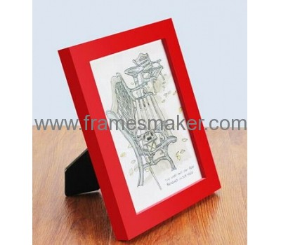 Table top wood  red photo frame WP-010