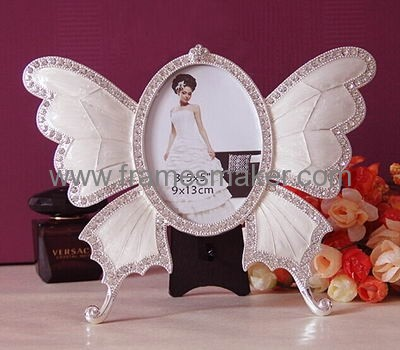 Zinc alloy butterfly metal photo frame MP-016