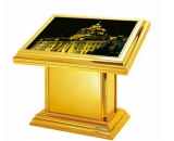 Large golden outdoor floor LED signs  PSF-010
