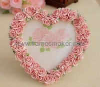 Heart shaped resin photo frames RF-010