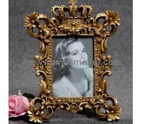 Golden crown poly resin photo frames RF-014