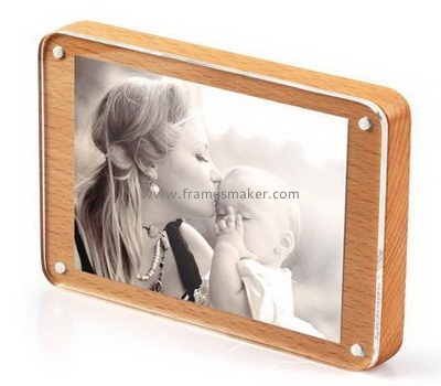 Wood photo frames with clear acrylic panel WP-001