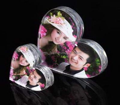 Heart shaped lucite photo frames AP-022